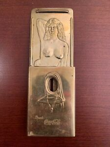 VINTAGE-COCA-COLA-NUN-BRASS-NUDE-BELT-BUCKLE-1915-San-Francisco-Very-Rare-Coke