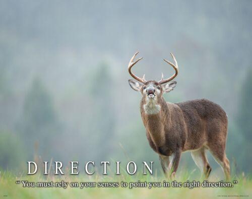 Whitetail Deer Motivational Poster Art Buck Deer Antler Sheds Bow Hunting MVP404