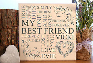 handmade-personalised-Best-special-friend-typography-plaque-sign-gift-present