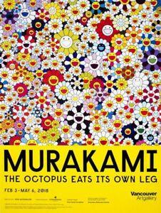 Nuevo-Takashi-Murakami-034-Flores-034-cartel-Exposicion-de-Vancouver-Art-Gallery-2018