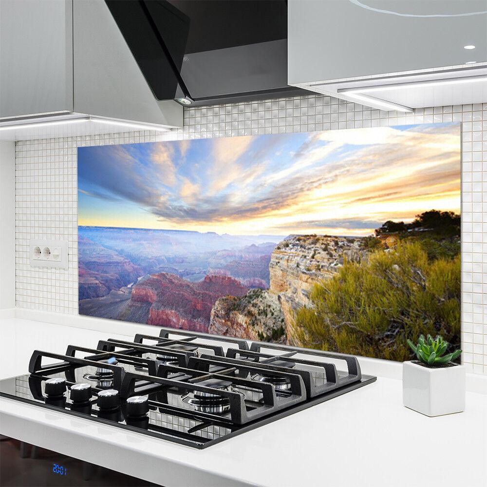 Küchenrückwand aus Glas ESG Spritzschutz 140x70cm Wasserfall Natur