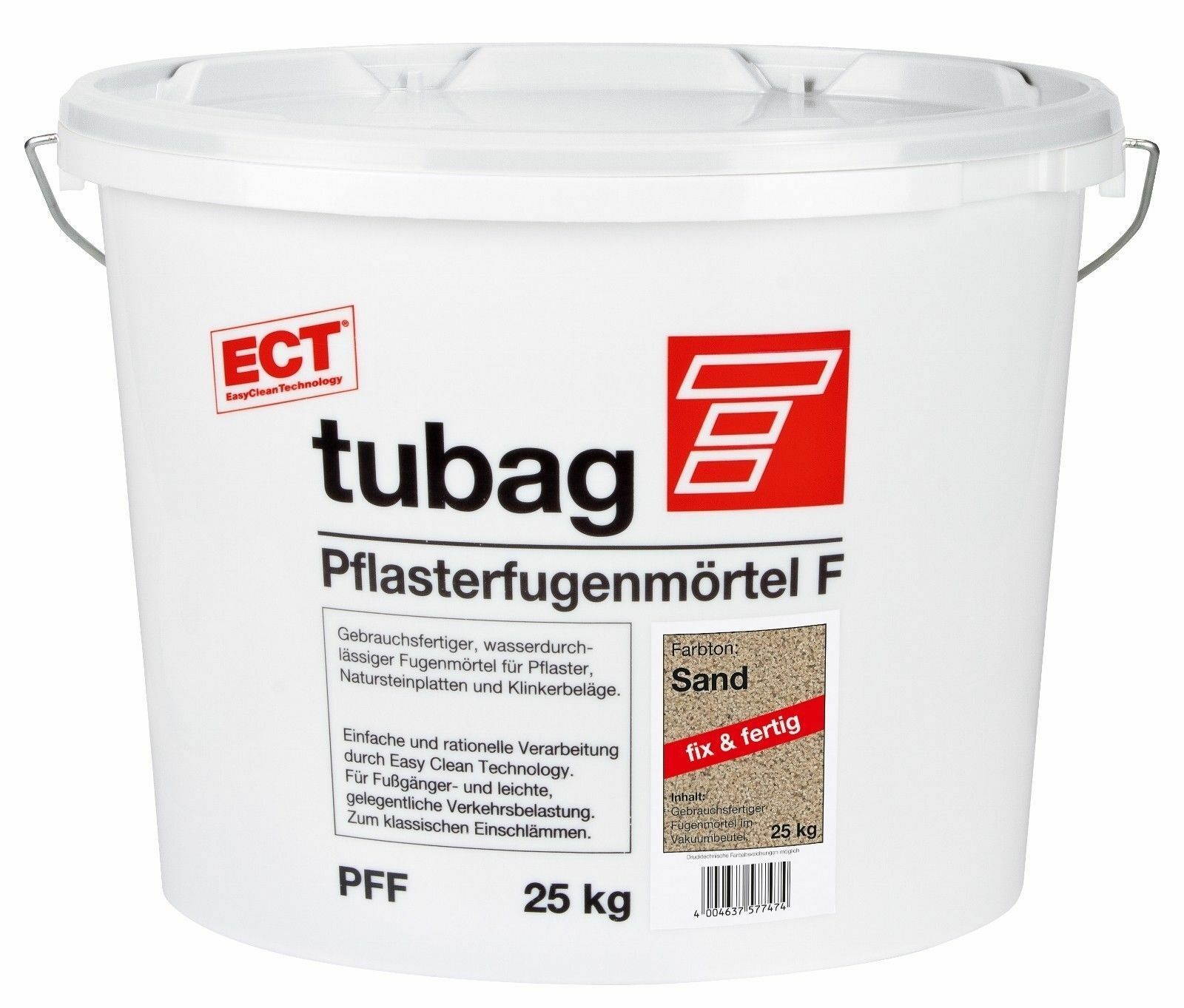Tubag Pflasterfugenmörtel  PFF 25 KG ETC FIX UND FERTIG Sandfarben PFF  /KG