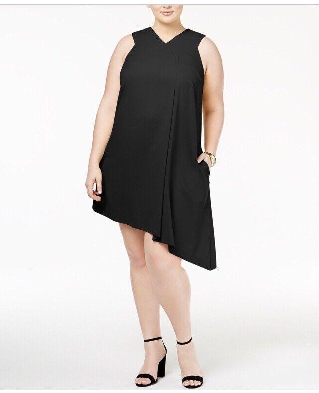 Rachel Roy Sleeveless Plus Größe Polyester damen 1XL Dress