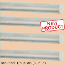 4 Pack Solid Aluminum Round Rod 18 X 12 Bar Stock Alloy 6061 Mill Finish New