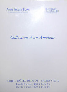 1990-Catalogo-Ilustrado-Venta-Drouot-Coleccion-D-Un-Amateur-Impresion-Pizarras