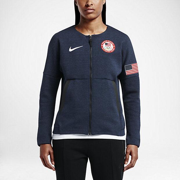Nike Women s Tech USA Olympic Full Zip Fleece Jacket Save Large  ef993b2d836f