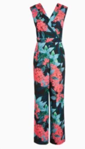 £ Wrap Black Tuta Next Style Size 60 Beautiful Bnwt Floral 14 Rrp XqqvUwF