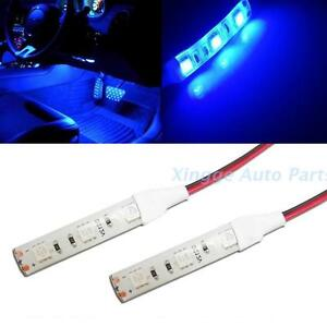 2pcs 3 smd blue led strip lights lamp for motorcycle under glow 2pcs 3 smd blue led strip lights lamp mozeypictures Gallery