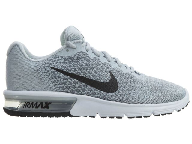 Nike Air Max Sequent 2 Mens 852461 002 Platinum Grey Knit Running Shoes Size 7
