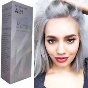 Image Is Loading Berina A21 Dye Hair Color Cream Light Grey