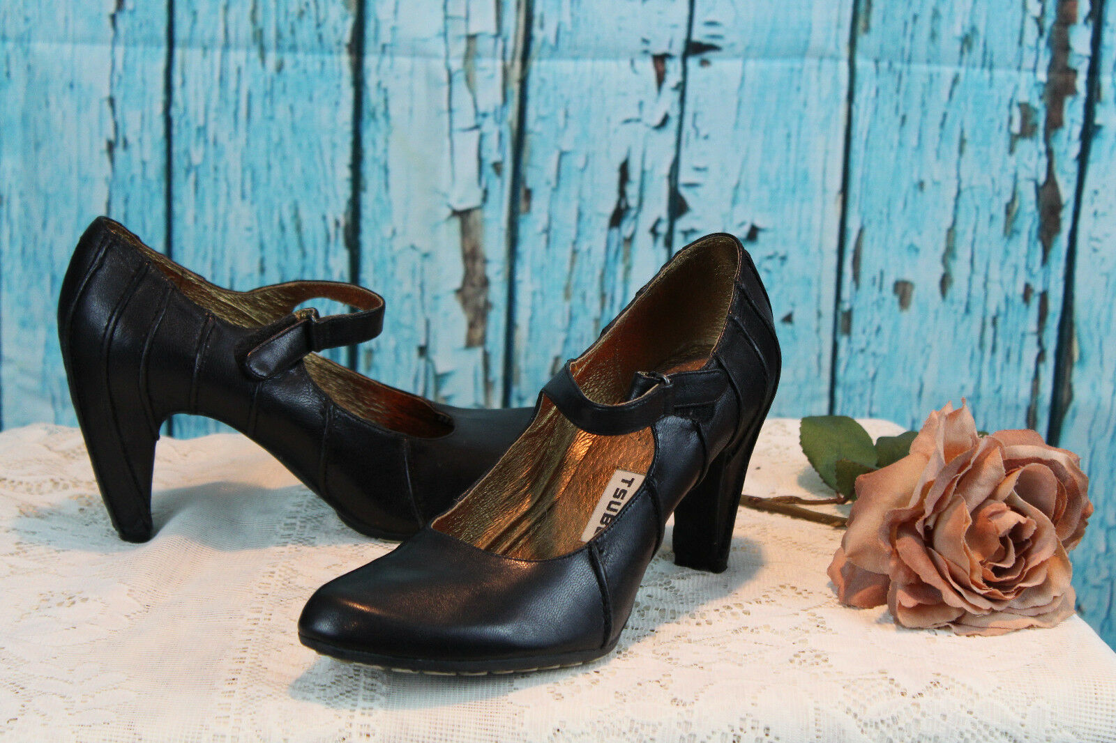 Tsubo Mary schwarz Jane schwarz Mary Leather damen schuhe 9.5 7c9b45