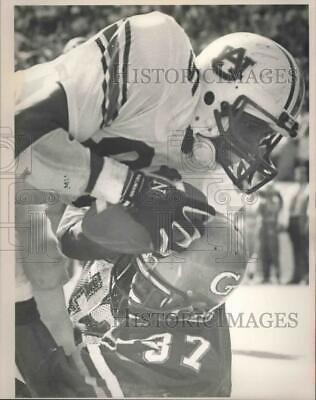 1987 Press Photo Auburn's Tillman Scores Against Georgia ...