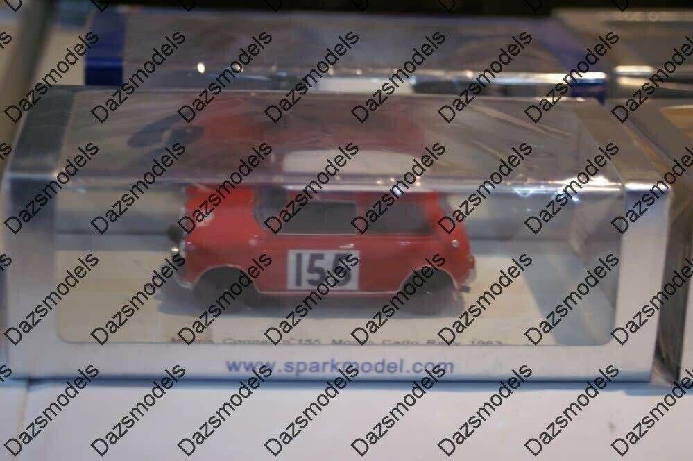 Spark morris cooper  155 monte voiturelo 1963 S1190  1 43 résine  économiser 35% - 70% de réduction