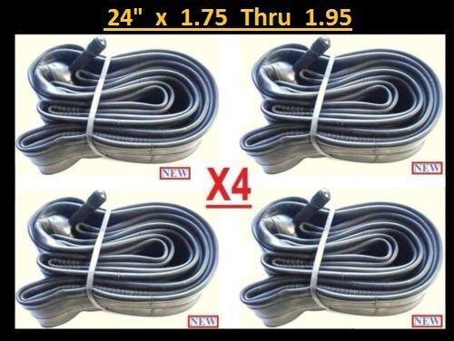 """24/"""" Bicycle Bike Cycle Inner Tube 24 x 1.75 thru 1.95 x4"""