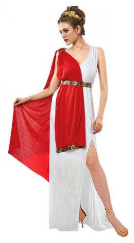 Femmes Romain Costume Déguisement Femme Déesse Grecque Spartan Costume 12-14 NEUF