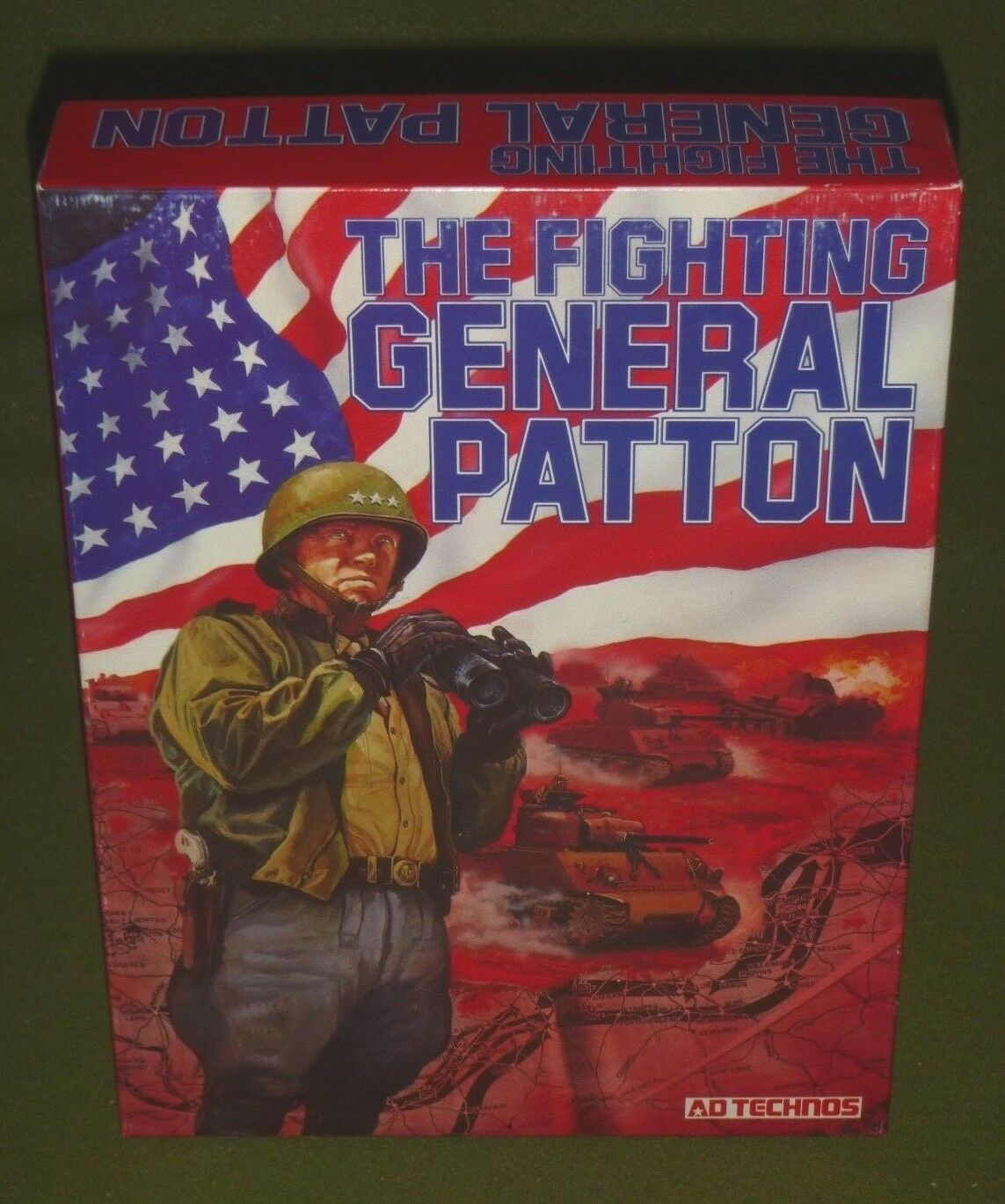 The Fighting General Patton - Ad Technos {UNPUNCHED - COMPLETE} OOP   VERY RARE