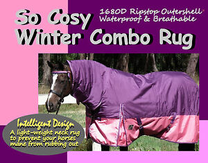 COMFORT-I-SO-COSY-I-6-039-3-034-I-W-039-PROOF-1680D-WINTER-PADDOCK-HORSE-COMBO-RUG