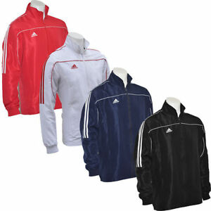 Adidas Tracksuit Top Gym Mens Kids Jacket Red Blue White Sports ... 56ca5454bc7