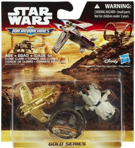 Star Wars Micro Machines Gold Series Clone Clash Vehicle 3-Pack