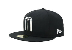New-Era-59Fifty-Mens-Cap-Mexico-World-Baseball-Classic-Black-White-Fitted-Hat