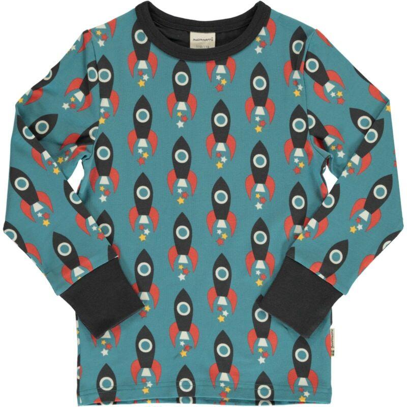 Verantwortlich Maxomorra Shirt Pulli Langarmshirt Rakete Bio-baumwolle Neu Top Ls Front SorgfäLtige FäRbeprozesse