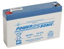 2 x POWERSONIC ps670 6v 7ah VRLA AGM/GEL BATTERIE BAIT BOAT