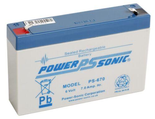 Power Sonic 6V 7AH (Leoch replacement) DJW6-7 DJW6-7.2 sealed lead acid Battery