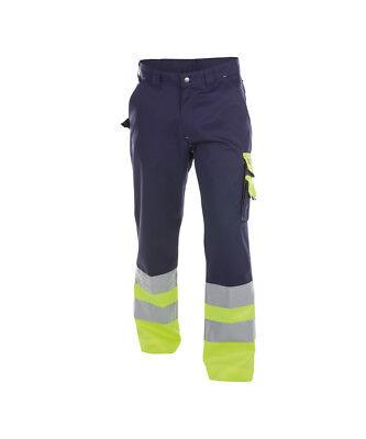 Dassy Workwear Omaha 200620 High Visibility Work Trouser, Yellow/navy Auf Der Ganzen Welt Verteilt Werden