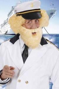 Neuf-Blond-Barbe-amp-Moustache-Capitaine-Oeil-D-039-oiseau-Matelot-Deguisement-Pirate