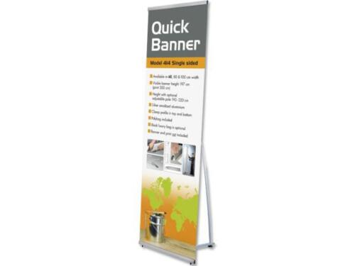Bannerdisplay Quick L-Banner einseitig 80x197cm Bannerstand Display Banner 4650