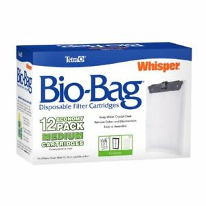 Tetra-Whisper-Bio-Bag-Cartridge-Unassembled-Medium-12-Pack-Fish-Tank-Aquarium