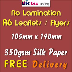 A6 350gsm Leaflets No Laminate Full Colour