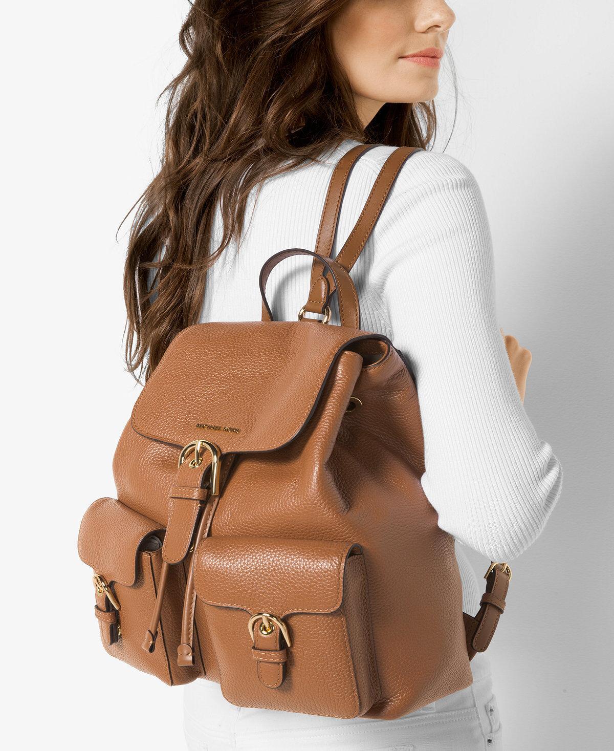 2d275205c Michael Kors Black Leather Cooper Large Flap Backpack 30s7gpcb7l for sale  online | eBay