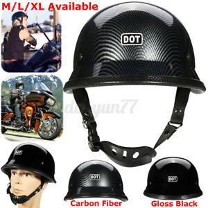 DOT-Motorcycle-German-Half-Face-Helmet-For-Cruiser-Chopper-Biker-Scooter-M-L-XL