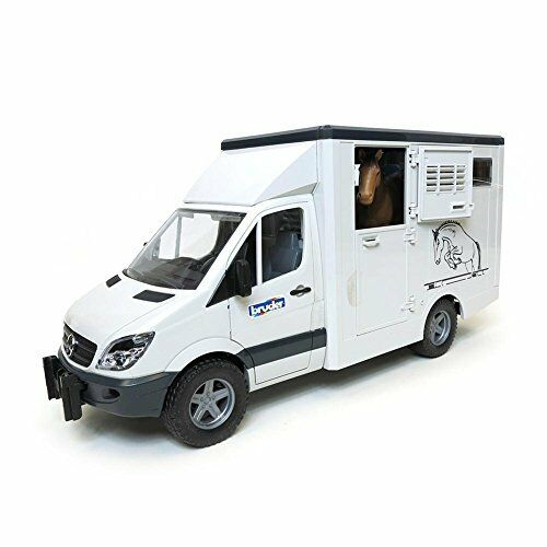 Bruder MB Sprinter Animal Transporter Including 1 Horse