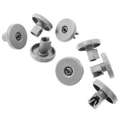 8X Dishwasher Lower Basket Wheels For Zanussi ZSF6152 ZDT6454 ZDT6764 ZDT6896