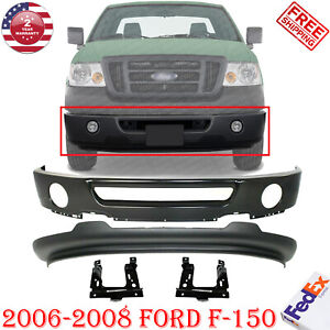 Front Bumper Paintable Lower Valance Bracket For 2006 2008 Ford F 150 2wd Ebay
