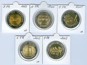 Suiza-5-Franken-Moneda-Conmemorativa-sin-Circulacion-Seleccione-entre