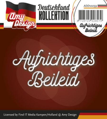 add10059 Stanzschablone-plus sincères condoléances-textschablone de Amy Design