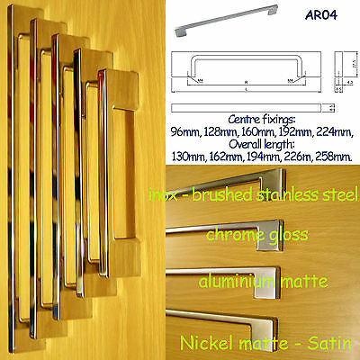 Slimline Kitchen Door Cupboard Cabinet Drawer Handles Inox stainless steel AR04