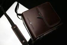 GARIZ Leather Camera Bag Brown CB-LZMSP Medium Size