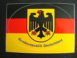 Details Zu Aufkleber Bundesrepublik Deutschland Schwarz Rot Gold Gelb Bundesadler 13 X 9