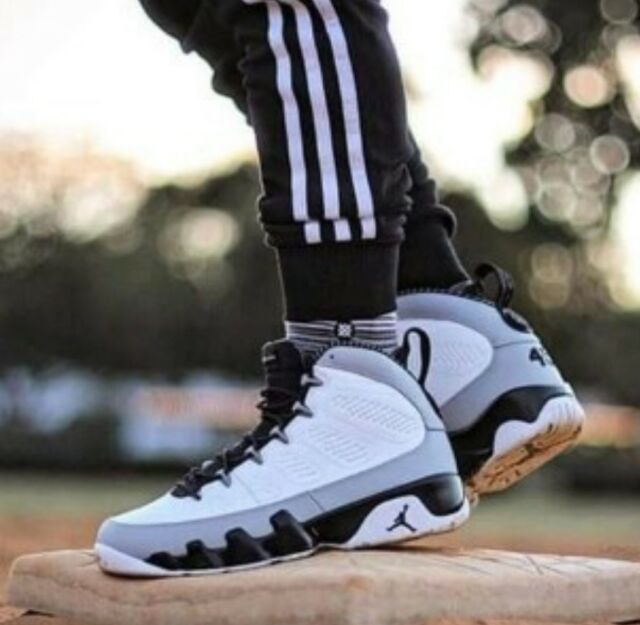 NIKE AIR JORDAN 9 IX RETRO BARON WHITEBLACK WOLF GREY