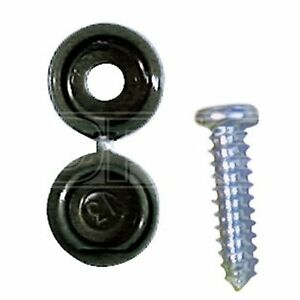 Pearl-Consumables-Number-Plate-Caps-amp-Screws-Black-PNP468R-Pack-of-50