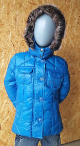 Miss-Bondi-Kinder-Winterjacke-Groesse-104-Blau-UVP-74-90-NEU-mit-Kapuze