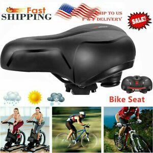 Big Butt Saddles Comfortable Men Women Bike Seat Memory Foam Padded Leather USA