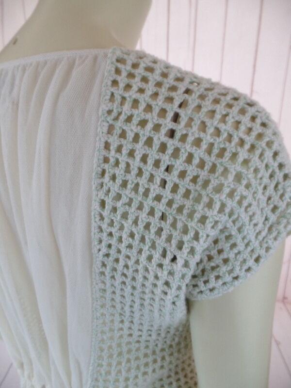Field Flower Anthropologie Sweater Vest XS Mint G… - image 10