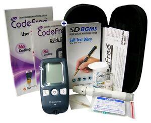 Medidor-de-Azucar-monitor-de-glucosa-en-sangre-mmol-L-diabeticos-IVA-libre-SD-CODEFREE