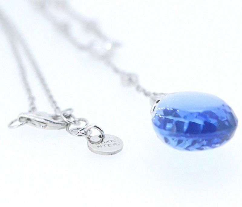 Luxenter Hydeothermal Quartz bluee Pendant on SALE 50% OFF