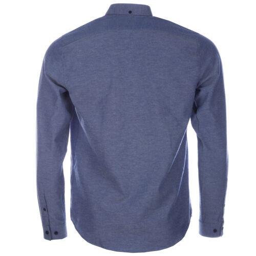 Da Uomo Gabicci Vintage Camicia Oxford Blu Chambray V34GW11 Manica Lunga Button Down